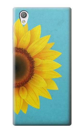 Printed Vintage Sunflower Blue Sony Xperia C4 Case