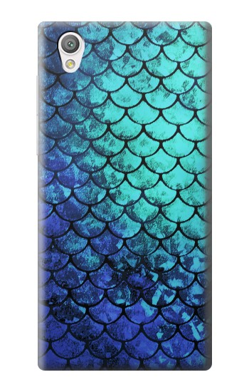 Printed Green Mermaid Fish Scale Sony Xperia C4 Case