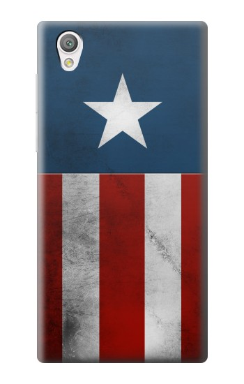 Printed Captain Star Flag of America Sony Xperia C4 Case