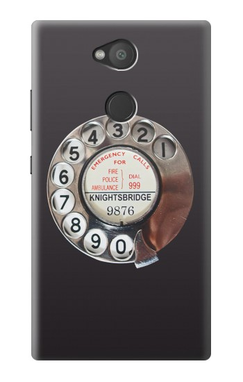Printed Retro Rotary Phone Dial On Sony Xperia L2 Case