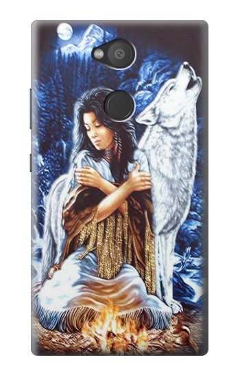 Printed Grim Wolf Indian Girl Sony Xperia L2 Case