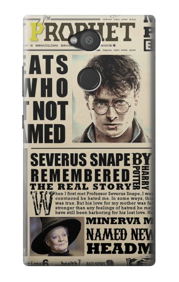 Printed Harry Potter Daily Prophet Sony Xperia L2 Case
