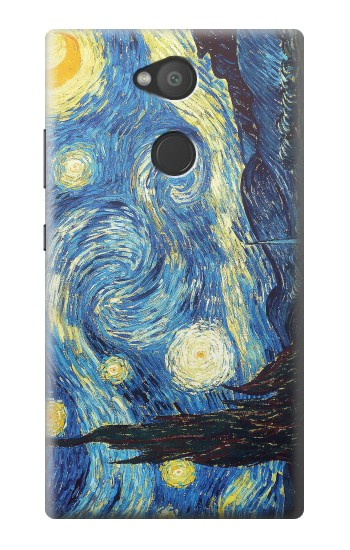 Printed Van Gogh Starry Nights Sony Xperia L2 Case