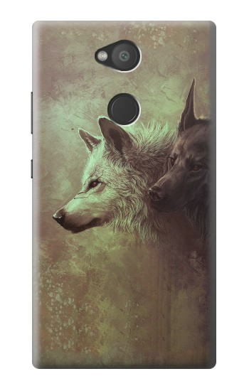 Printed White Black Wolf Sony Xperia L2 Case