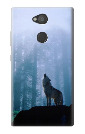 Printed Wolf Howling in Forest Sony Xperia L2 Case