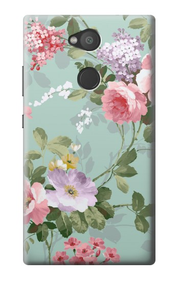 Printed Flower Floral Art Painting Sony Xperia L2 Case