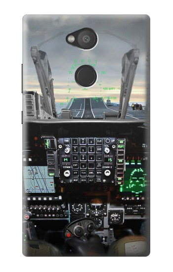 Printed Fighter Jet Aircraft Cockpit Sony Xperia L2 Case