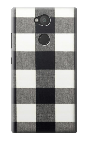 Printed Black and White Buffalo Check Pattern Sony Xperia L2 Case