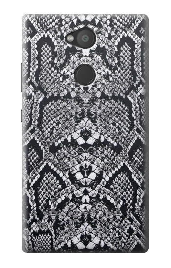 Printed White Rattle Snake Skin Sony Xperia L2 Case