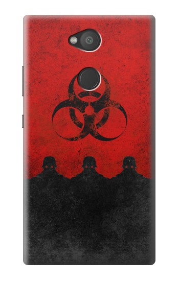 Printed Virus Red Alert Sony Xperia L2 Case
