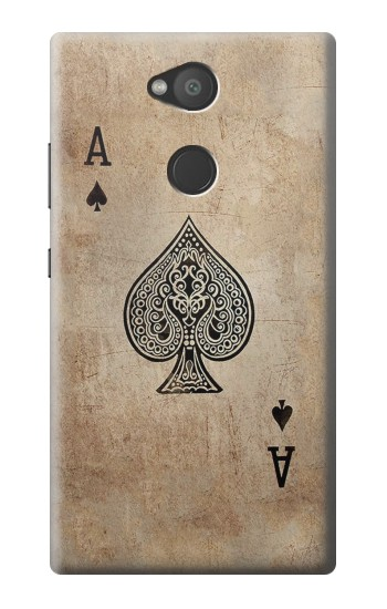 Printed Vintage Spades Ace Card Sony Xperia L2 Case