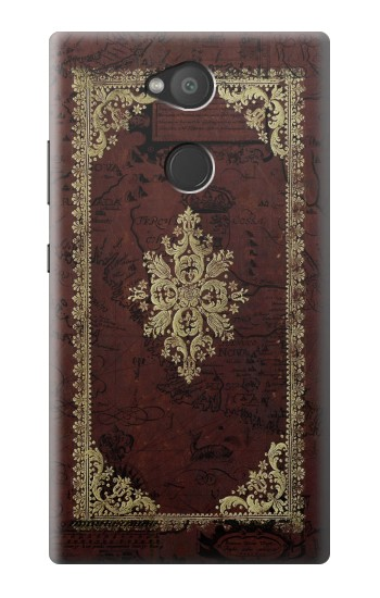 Printed Vintage Map Book Cover Sony Xperia L2 Case