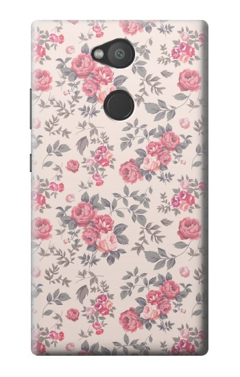 Printed Vintage Rose Pattern Sony Xperia L2 Case