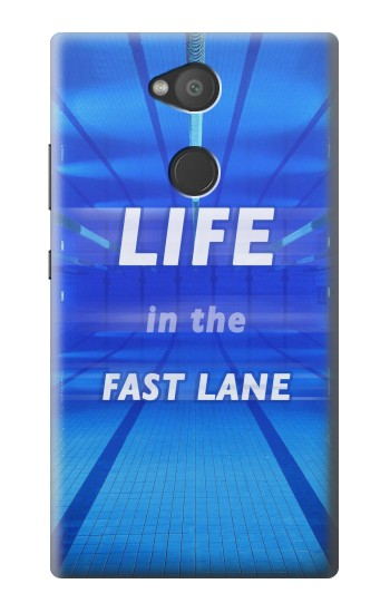 Printed Life in the Fast Lane Swimming Pool Sony Xperia L2 Case