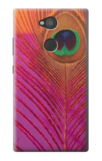 Printed Pink Peacock Feather Sony Xperia L2 Case