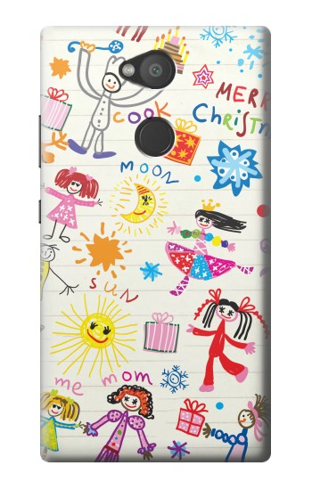 Printed Kids Drawing Sony Xperia L2 Case