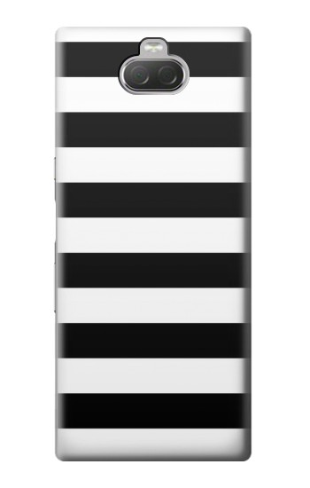Printed Black and White Striped Sony Xperia 10 Case