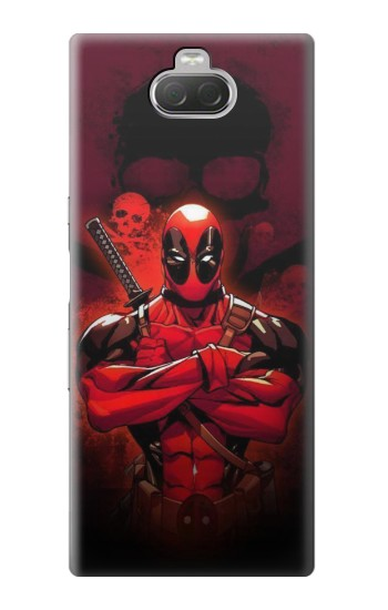 Printed Deadpool Skull Sony Xperia 10 Case
