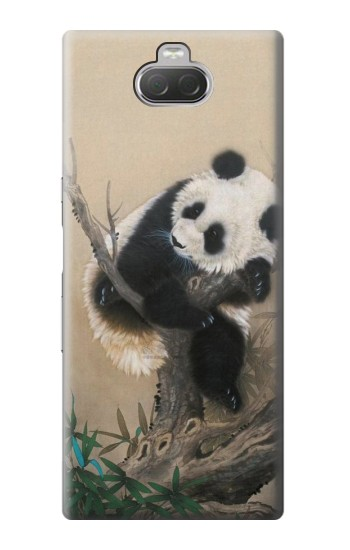 Printed Panda Fluffy Art Painting Sony Xperia 10 Case
