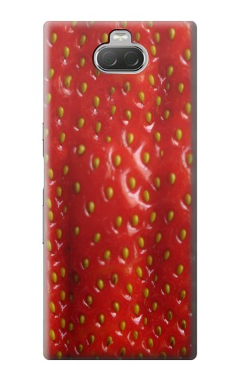 Printed Strawberry Sony Xperia 10 Case