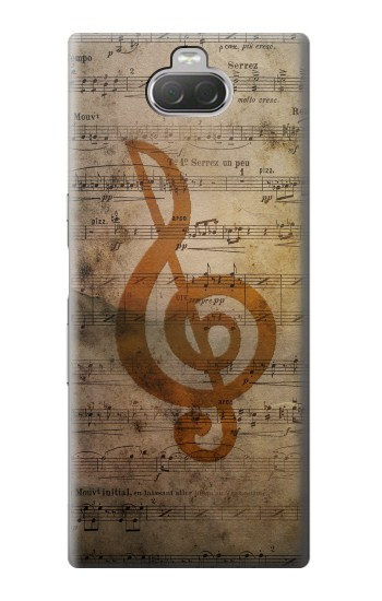 Printed Sheet Music Notes Sony Xperia 10 Case