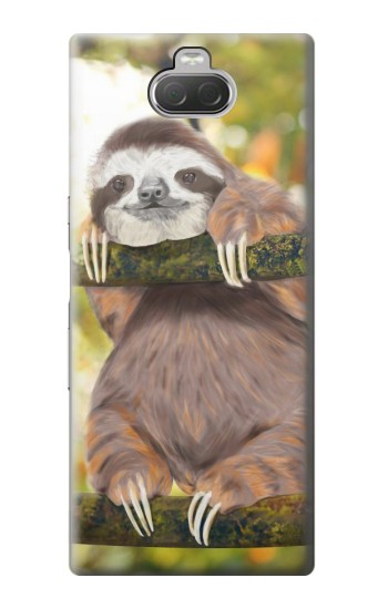 Printed Cute Baby Sloth Paint Sony Xperia 10 Case