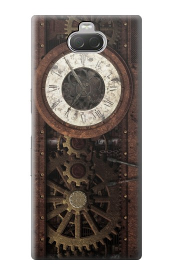 Printed Steampunk Clock Gears Sony Xperia 10 Case