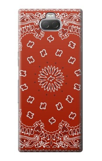 Printed Bandana Red Pattern Sony Xperia 10 Case