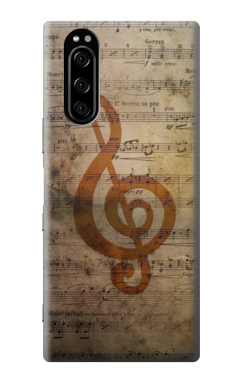 Printed Sheet Music Notes Sony Xperia 5 Case