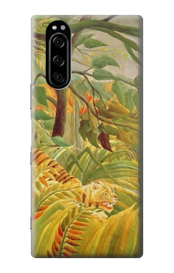 Printed Henri Rousseau Tiger in a Tropical Storm Sony Xperia 5 Case