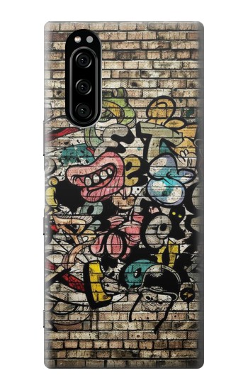 Printed Graffiti Wall Sony Xperia 5 Case