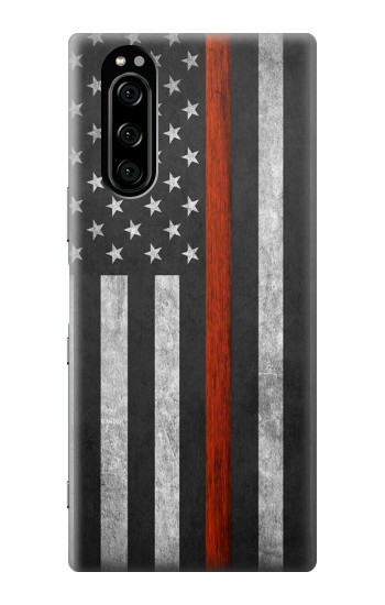 Printed Firefighter Thin Red Line Flag Sony Xperia 5 Case