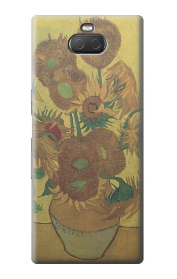 Printed Van Gogh Vase Fifteen Sunflowers Sony Xperia 10 Plus Case