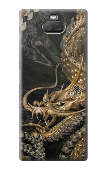 Printed Gold Dragon Sony Xperia 10 Plus Case