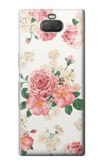 Printed Rose Pattern Sony Xperia 10 Plus Case