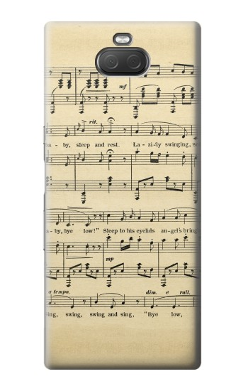 Printed Vintage Music Sheet Sony Xperia 10 Plus Case