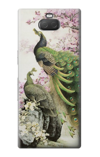 Printed Peacock Chinese Brush Painting Sony Xperia 10 Plus Case