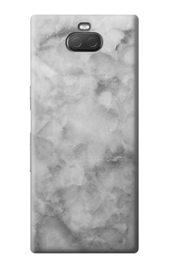 Printed Gray Marble Texture Sony Xperia 10 Plus Case