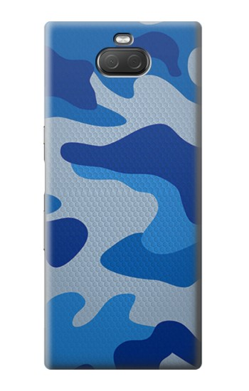 Printed Army Blue Camouflage Sony Xperia 10 Plus Case