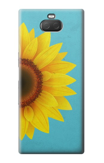 Printed Vintage Sunflower Blue Sony Xperia 10 Plus Case