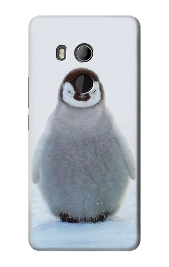 Printed Penguin Ice HTC U11 Eyes Case