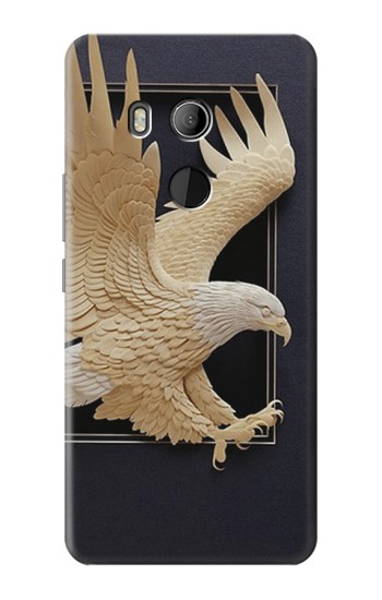 Printed Paper Sculpture Eagle HTC U11 Eyes Case