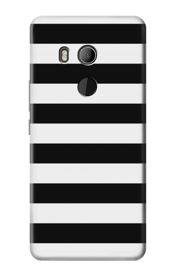 Printed Black and White Striped HTC U11 Eyes Case