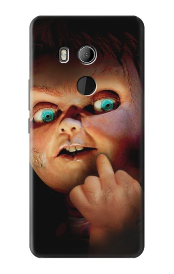 Printed Chucky Middle Finger HTC U11 Eyes Case