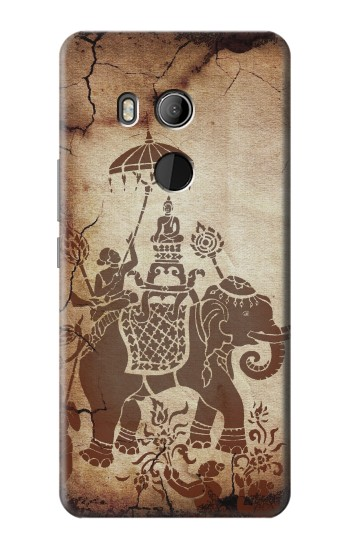 Printed Thai Art Buddha on Elephant HTC U11 Eyes Case
