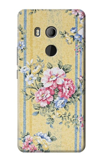 Printed Vintage Flowers HTC U11 Eyes Case