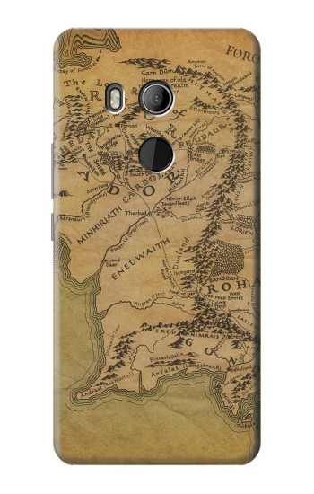 Printed The Lord Of The Rings Middle Earth Map HTC U11 Eyes Case