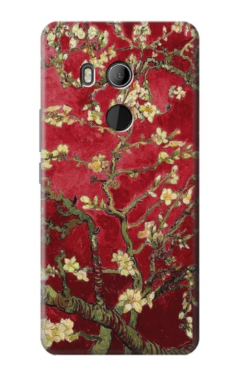 Printed Red Blossoming Almond Tree Van Gogh HTC U11 Eyes Case