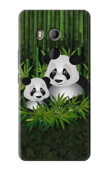 Printed Panda Bamboo HTC U11 Eyes Case