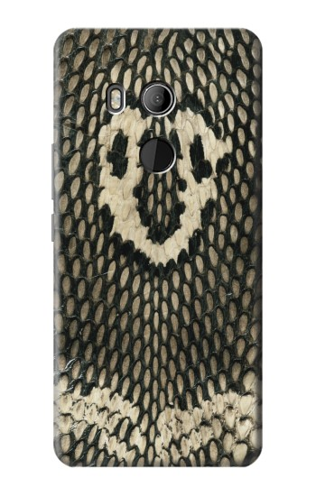Printed King Cobra Snake Skin HTC U11 Eyes Case